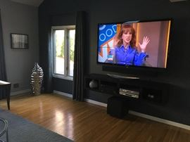 "Large 70"" Flat Screen TV w/Marantz Tuner Amp & Soundbar"