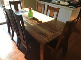 Rustic Country Farm Table Set & Chairs
