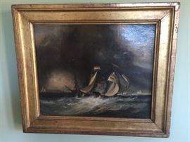 Oil Painting, ships