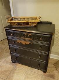 Black dresser chest