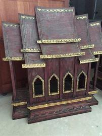 "Thai miniature temple - stands appx 24"" $150"