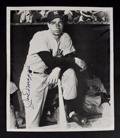 Joe DiMaggio autographed photo.