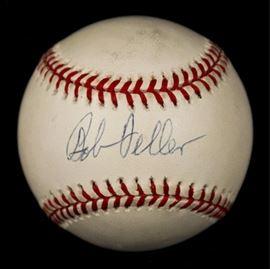 Bob Feller signed baseball