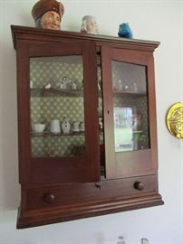 antique hanging cupboard