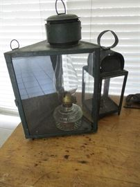 antique tin lighting