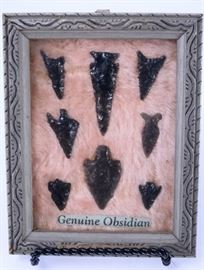 3: Obsidian Bird Points from Lake County Oregon