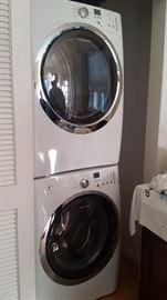Newer stack washer dryer Gas