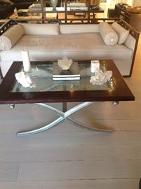 X BASE COFFEE TABLE, SOFA HAS BEEN SOLD