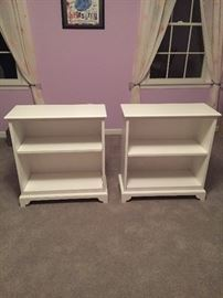 Pair of 2-shelf book cases - sold as a pair (but not sold as part of bedroom set - though it is the same Vermont maker)