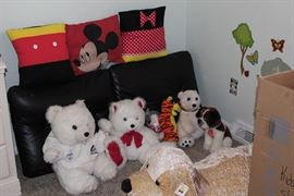 children's toys, and Mickey and Minnie decor