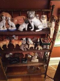 Large collection of dog figurines