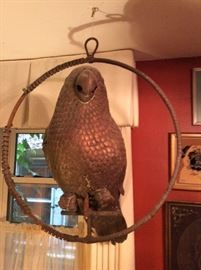 Large brass Parrot from Mexico