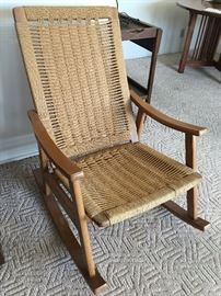 Amish woven rocking chair  Excellent condition
