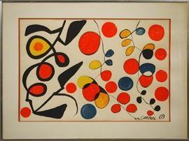 "Alexander Calder Lithograph ""Spring Carnival"""