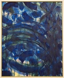 Sam Francis, American, 1923-1994.  Untitled, abstract watercolor on paper, unsigned