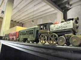 5pc Cast Iron Train Set