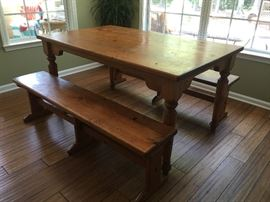 Farm Table w/Benches