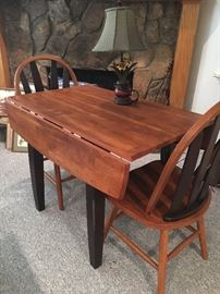 Dropleaf Wood Table w/2 Chairs