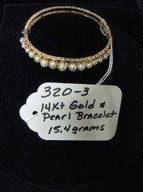 14kt Gold & Pearl Bracelet