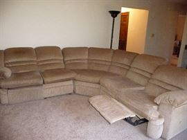 Extra large sectional with recliners