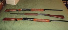 "Three guns include: Remington Sportsman 58 16 gauge 2 3//4"" automatic; Sears 12 gauge auto 3"" & 2 3/4"" Magnum; Remington Field Master Model 121 22 Pump."