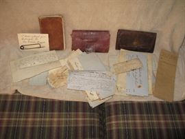 A partial collection of some of the Aiken County SC receipts and artifacts.