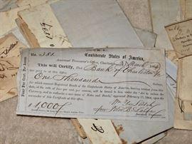 1864 Confederate States of America certificate