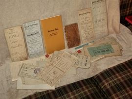Deeds and early real estate receipts from the Aiken County, SC area.