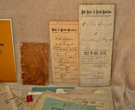 Early documents from the Baggots of Aiken County, SC.