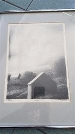 Robert Kipniss signed low numbered lithograph. Clouds