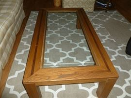 One of two matching tables. 8x10 rug in excellent condition.