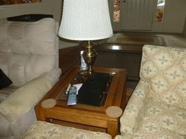 Matches coffee table.