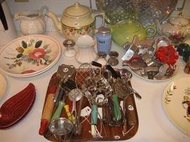 Vintage kitchen utensils and dishware