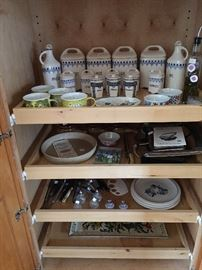 Nice old German pottery set...and more kitchen stuff.