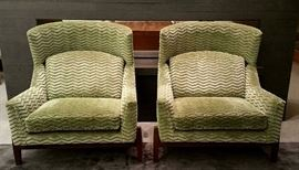 Pair Jens Risom, Big Chairs, Ralph Pucci,