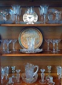 Vintage & Newer Crystal, Pressed Glass & Silverplate
