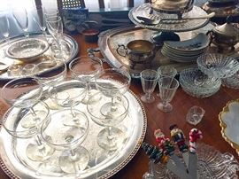 Vintage Glassware, Silverplate & More