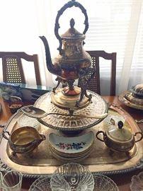 Vintage Bone Dishes, Glassware & Silverplate