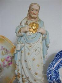 Bisque Jesus Statue