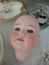 Antique Bisque doll Head