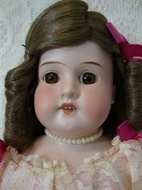 Close up of Bisque Doll