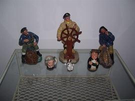 Doulton figurines.