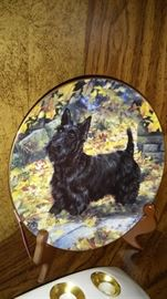 Set of four Scottie Dog Plates