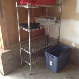 Metal Storage Shelf - $ 40.00