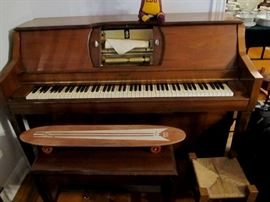 1940's player piano works great, will demo if interested.