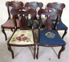 Vintage needlepoint seat chairs