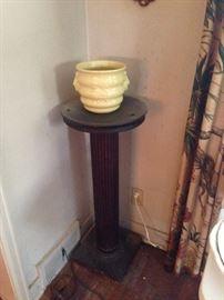 McCoy planter on pedestal