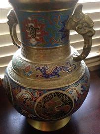 Oriental brass lamp (pair)