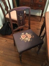 Antique English Needlepoint Chairs - Set of 6