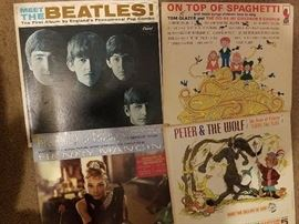 Vinyl albums, beatles, monkees